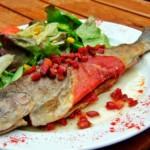 Truite à la navarraise, recette de poisson typique espagnole